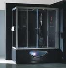 Гидромассажный бокс GOLSTON G-U697 левосторонний (черный) +TV