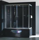 Гидромассажный бокс GOLSTON G-U697 правосторонний (черный) +TV